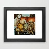 Waiting Room Of Souls Framed Art Print