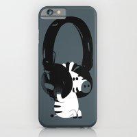 Le zèbre mélomane iPhone 6 Slim Case