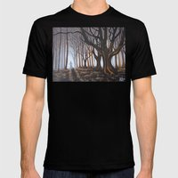 Dark Forrest Mens Fitted Tee Black SMALL