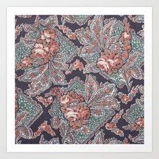 Vintage Floral Pattern Art Print