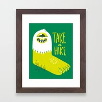 Advice Bigfoot Framed Art Print