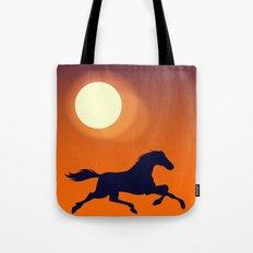 Racing Sunset Tote Bag