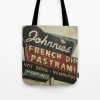 Johnnie's French Dip Pastrami Vintage/Retro Neon Sign Tote Bag