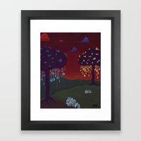 Glow Print Framed Art Print