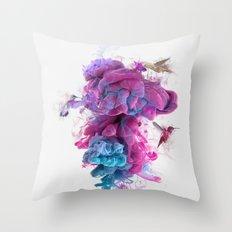 Hummingbirds Ink Throw Pillow