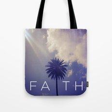 Palm Tree Faith Tote Bag