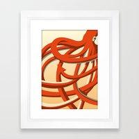 Octopus red Framed Art Print