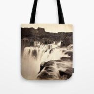 Vintage Waterfall Tote Bag