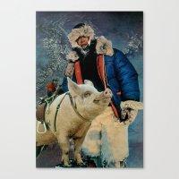 Hog Ride Canvas Print