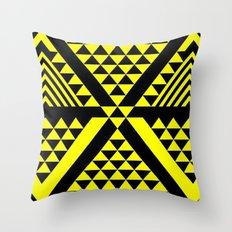 Black & Yellow Throw Pillow