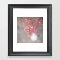 pink coral bells Framed Art Print