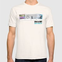 Life is ART Mens Fitted Tee Natural SMALL