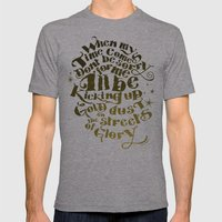 Kicking up gold dust on the streets of glory Mens Fitted Tee Athletic Grey SMALL