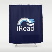 I Read | Book Nerd Sloga… Shower Curtain