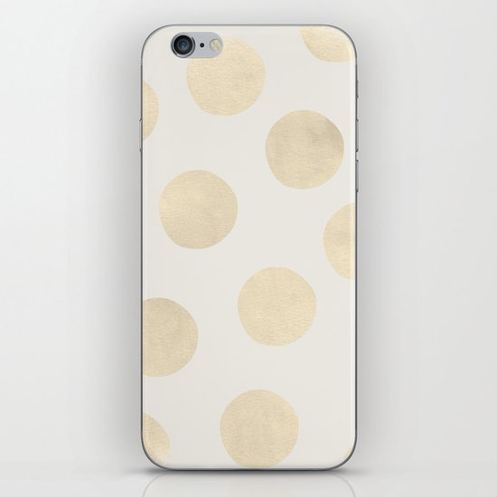 Gold Polka Dots iPhone & iPod Skin