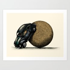 Volksdung Beetle Art Print