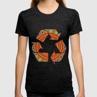 Mandala Aztec Pattern Womens Fitted Tee Tri-Black SMALL