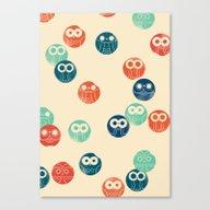 Owl Spots Canvas Print