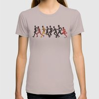 Away Mission: Deep Space 9 Womens Fitted Tee Cinder SMALL