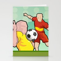 Soccer game Stationery Cards