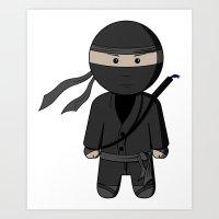 Ninja Art Print