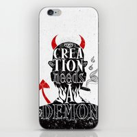 CREATION NEEDS A DEMON iPhone & iPod Skin