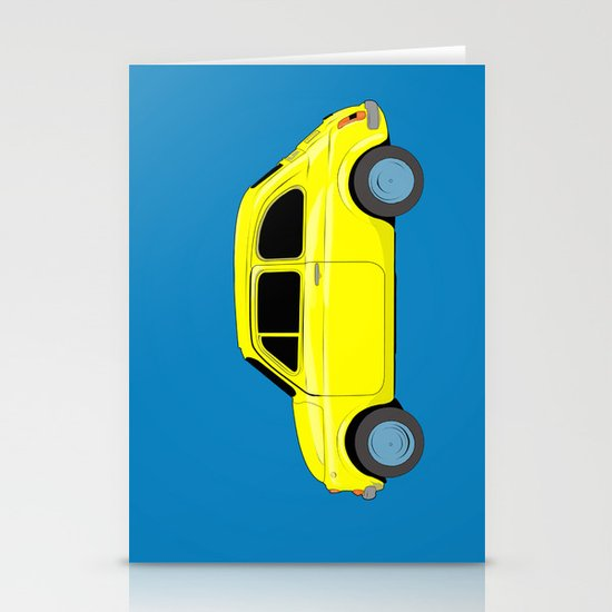 A tiny Fiat (blue) Stationery Card