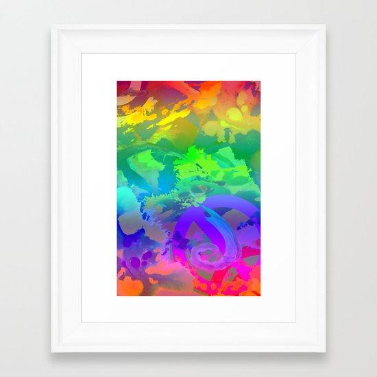 What A Mess Framed Art Print