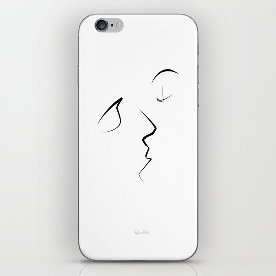 Kiss/beso/kuss/baiser/beijo/ iPhone & iPod Skin