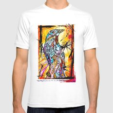 The Beautiful Bird Is The One Who Gets Caged Mens Fitted Tee White SMALL