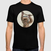 Baby monkey Mens Fitted Tee Black SMALL