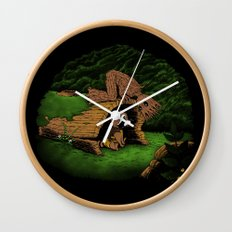 The Tree and the Raccoon Wall Clock