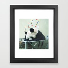Sleepy Panda Framed Art Print