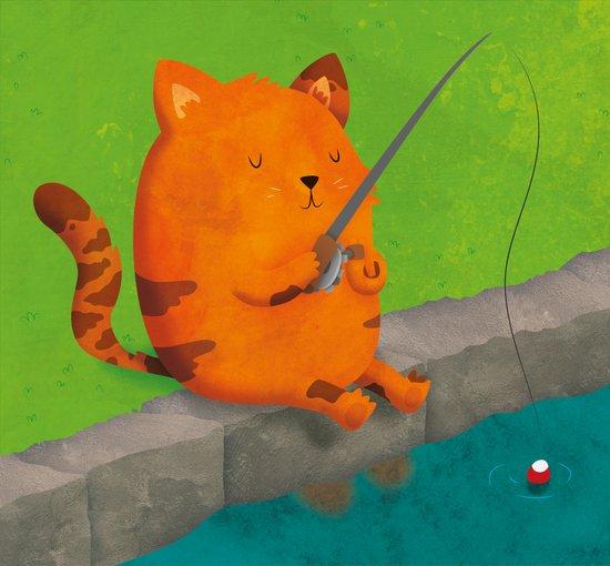 A Purrr-fect Afternoon Fishing Art Print