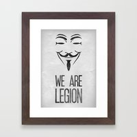 We Are Legion Framed Art Print