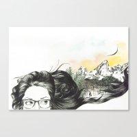 Tetons On My Mind  Canvas Print