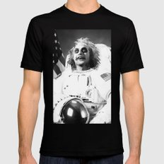 Astronaut Beetle Juice Mens Fitted Tee Black SMALL
