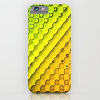 iPhone Cases featuring Citrus Sunshine Geometric Abstract by Janice Austin Designs