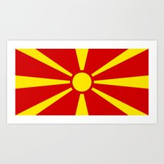 National flag of Macedonia - authentic version Art Print
