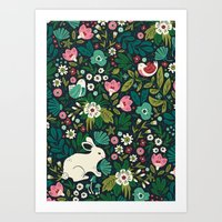 forest Art Prints featuring Forest Friends by Anna Deegan