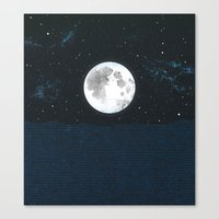 Blue Moonscape Canvas Print