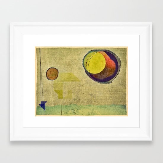 beyond planets Framed Art Print