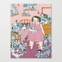 Doll Hoarder Canvas Print