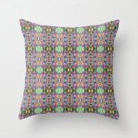 Acid Rain Detail Pixel Throw Pillow