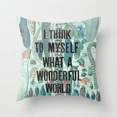Wonderful World Throw Pillow