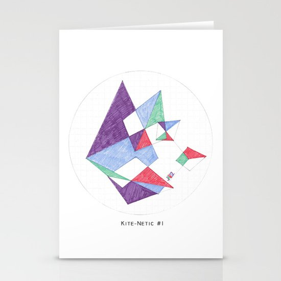 Kite-netic #1 Stationery Card