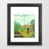 Using Rain Framed Art Print
