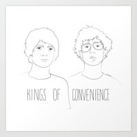 Kings of Convenience Art Print