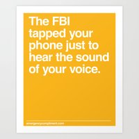 FBI Tapping Art Print