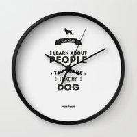 Mark Twain Quote - The M… Wall Clock
